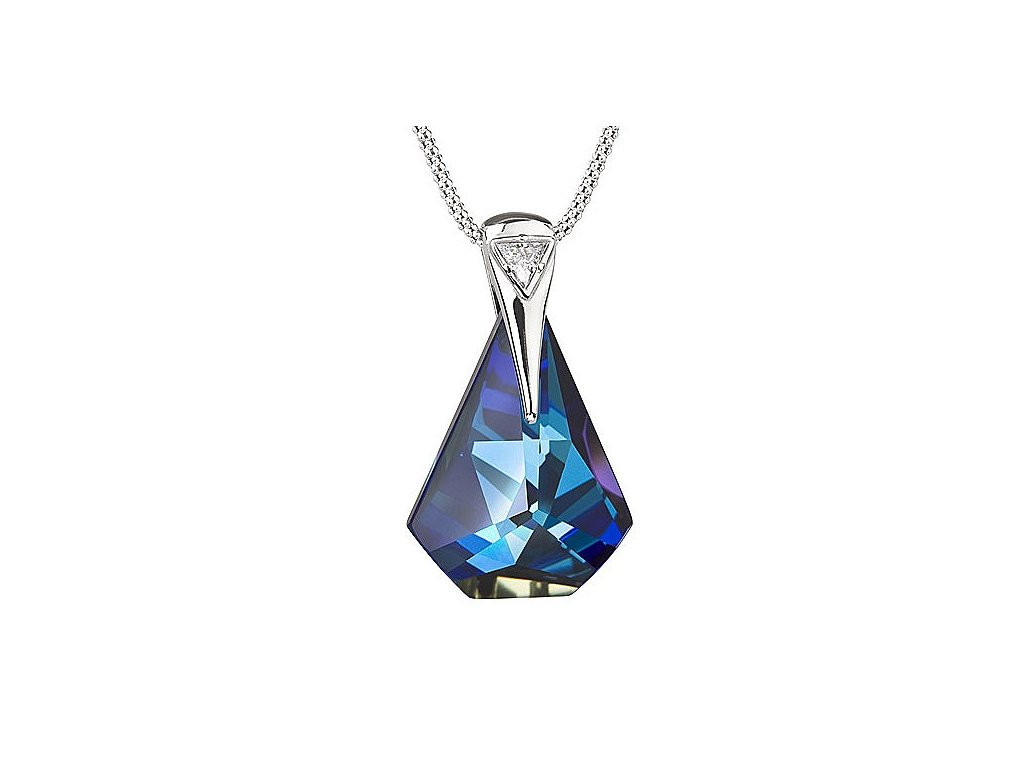 Přívěsek z broušeného skla Pompe v modré barvě od firmy Preciosa