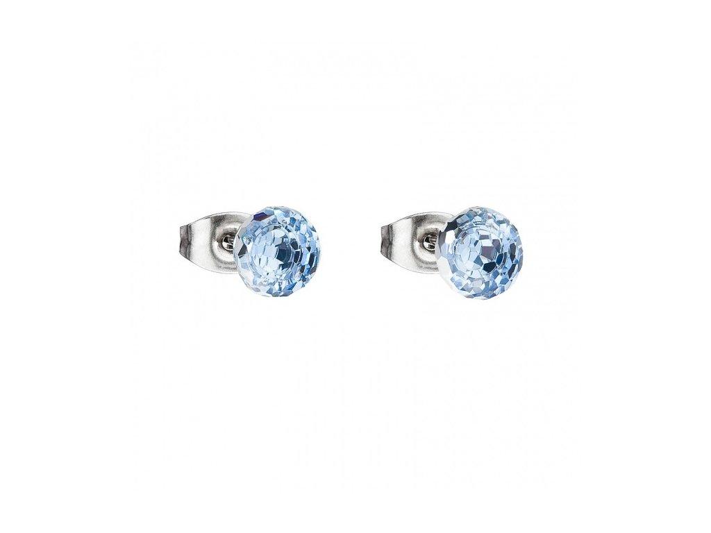 Náušnice z broušeného skla Ivy v modré barvě od firmy Preciosa