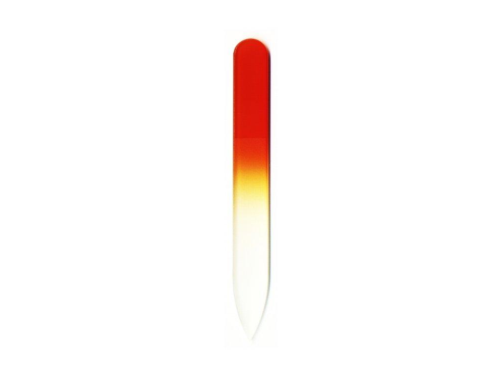 Skleněný pilník na nehty barevný 90 mm - Tmavá meruňka