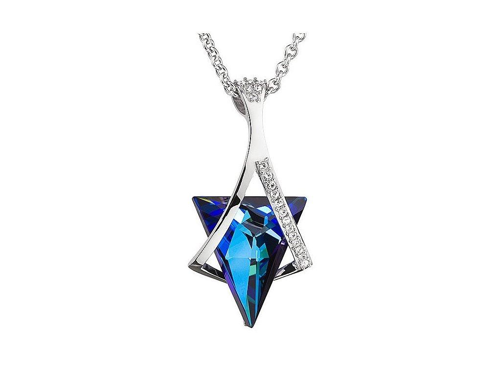Přívěsek z broušeného skla Mystique v modré barvě od firmy Preciosa