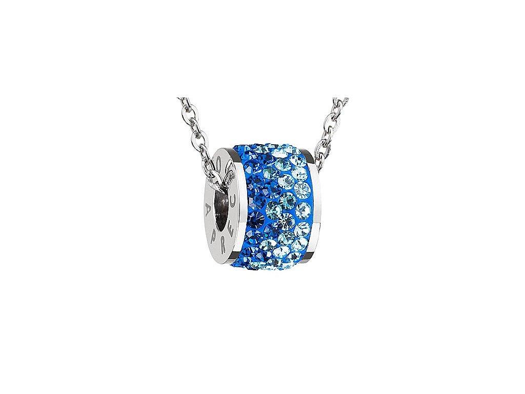 Přívěsek z broušeného skla Mirai v modré barvě od firmy Preciosa