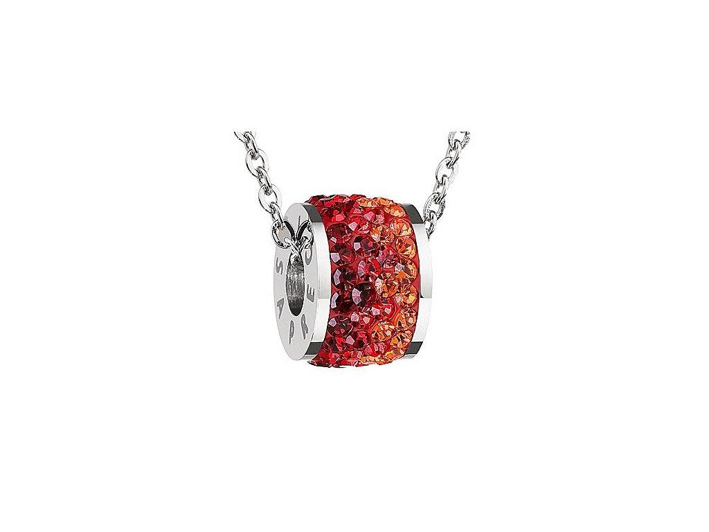 Přívěsek z broušeného skla Mirai v červené barvě od firmy Preciosa