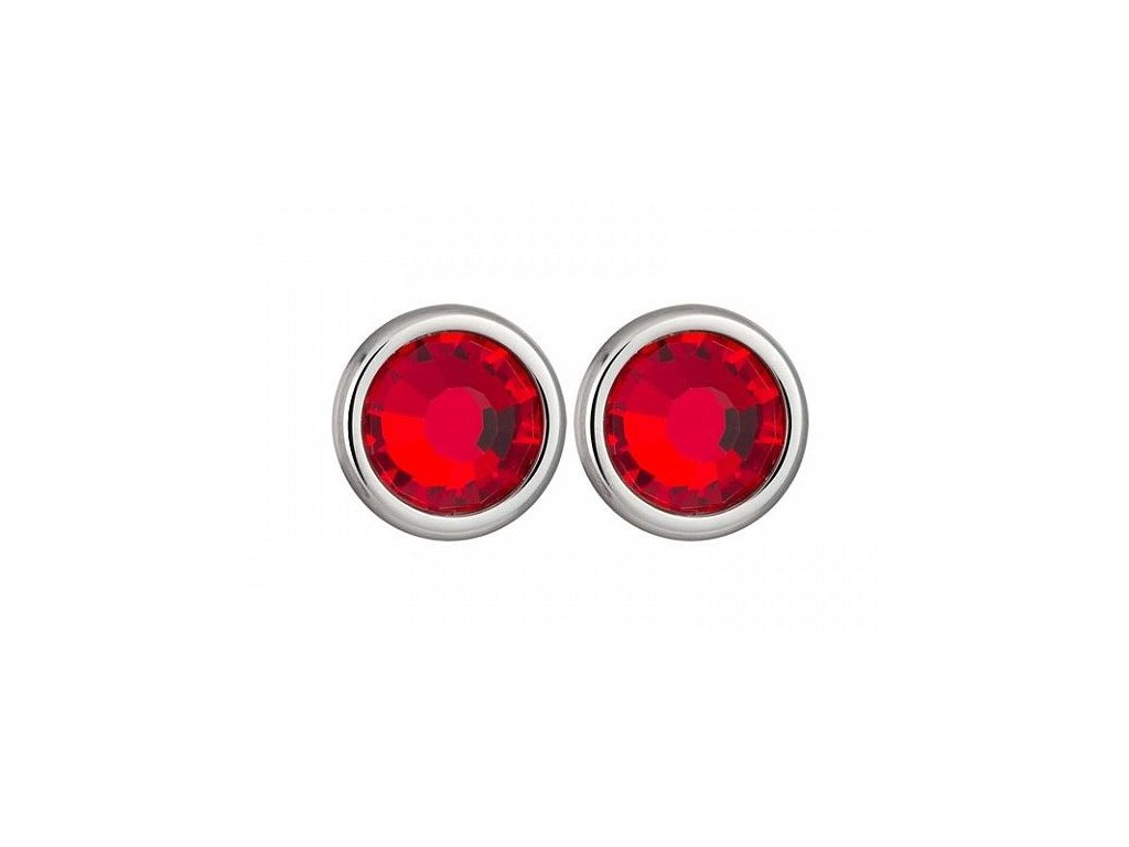 Stříbrné náušnice Magical Spark v červené barvě od firmy Preciosa