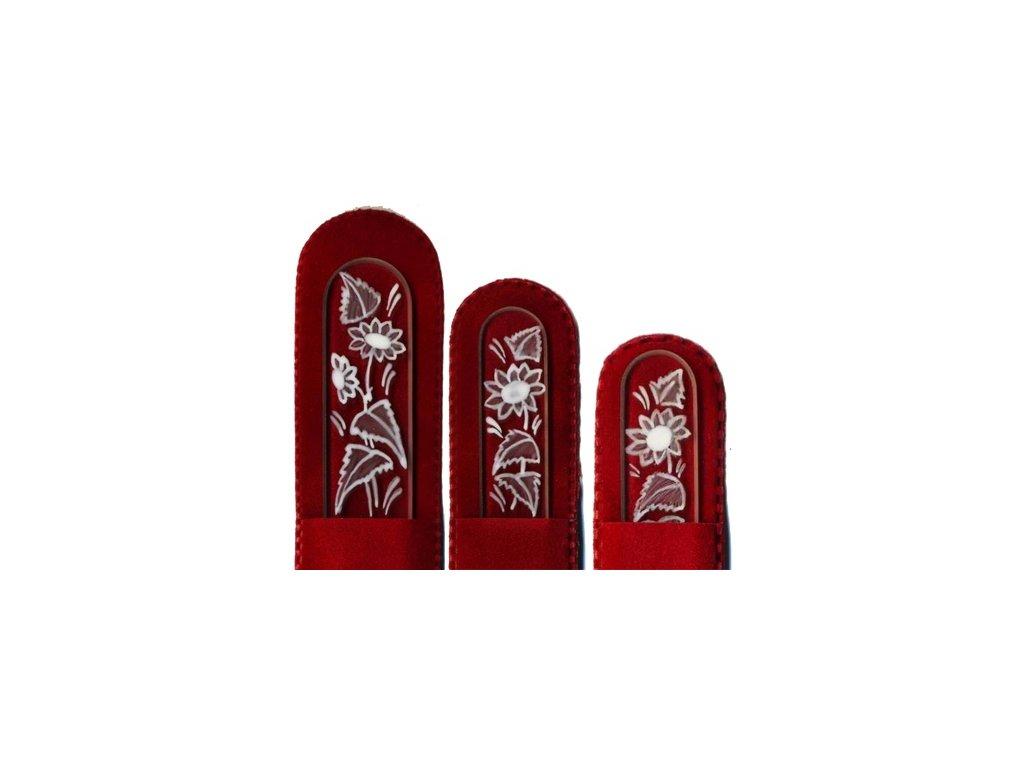 Skleněné pilníky na nehty ručně malované 90, 135 mm a pedikúra – Sedmikrásky 3