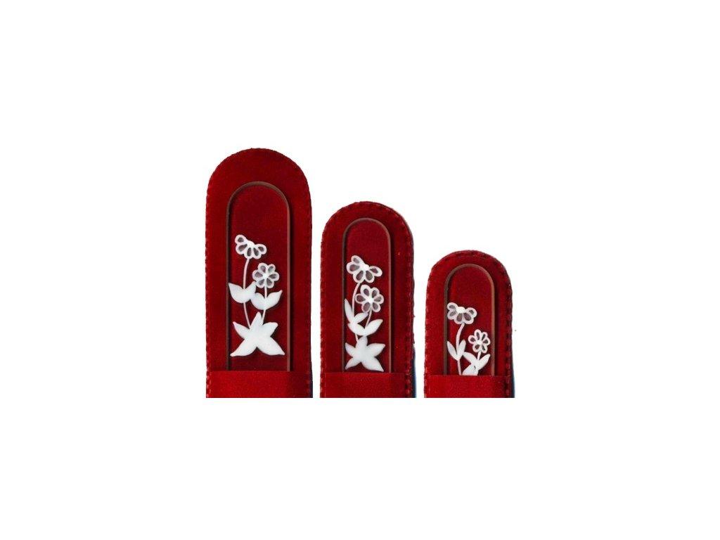 Skleněné pilníky na nehty ručně malované 90, 135 mm a pedikúra – Sedmikrásky 2