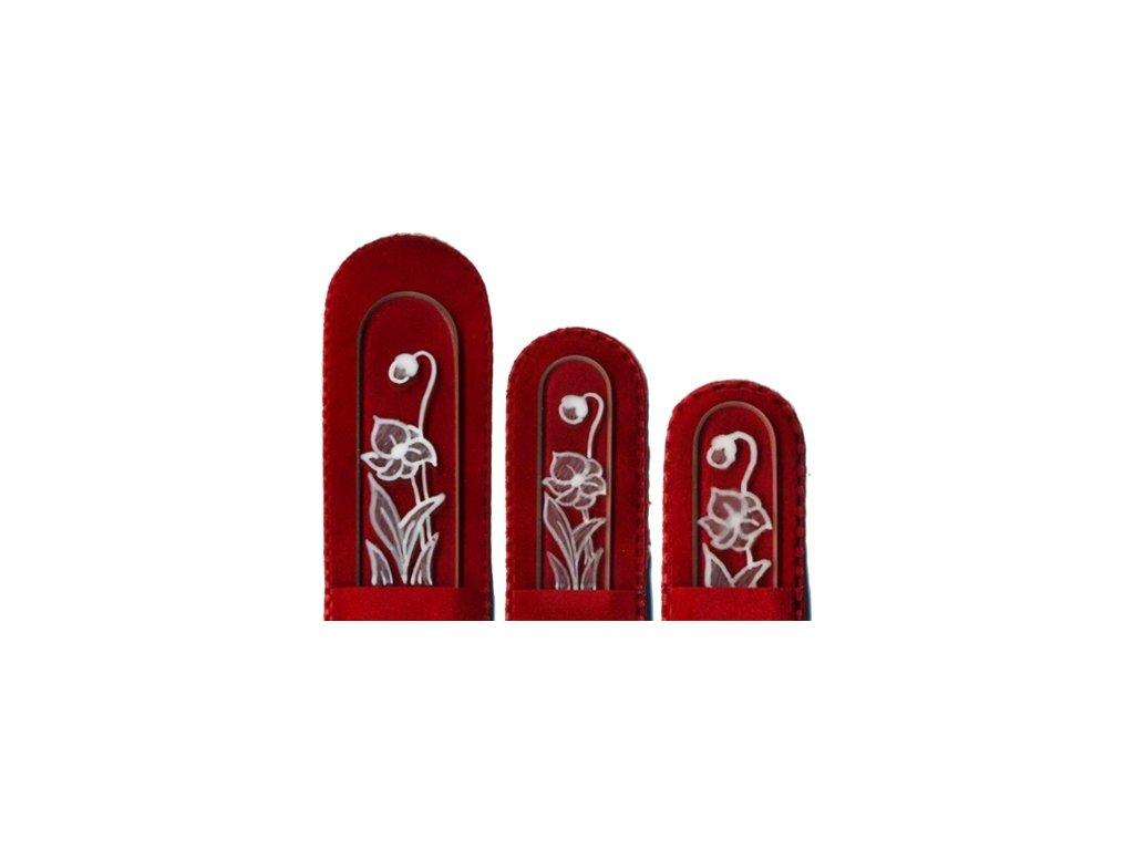 Skleněné pilníky na nehty ručně malované 90, 135 mm a pedikúra – Sedmikráska