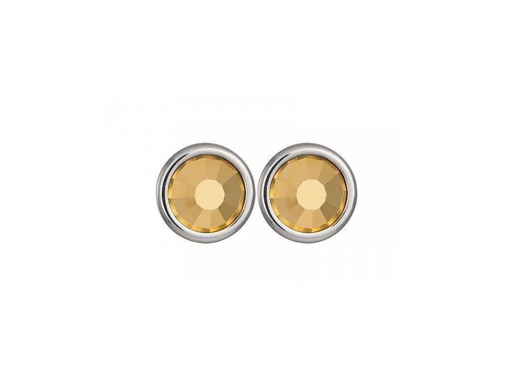 Náušnice chirurgická ocel Carlyn ve zlaté barvě od firmy Preciosa
