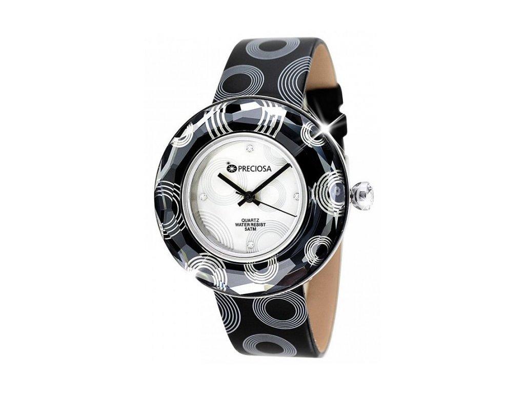 Dámské hodinky Preciosa Crystal Time Modern v barvě chromu