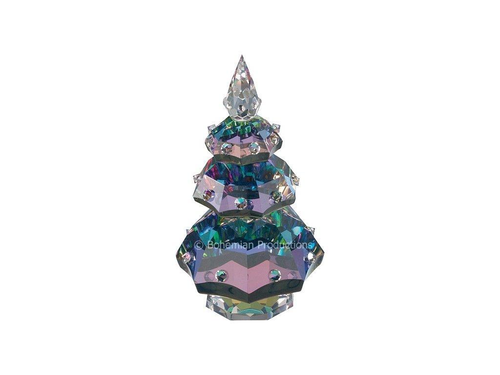 Skleněná figurka z broušeného křišťálu Sklo Bohemia - Vánoční stromek