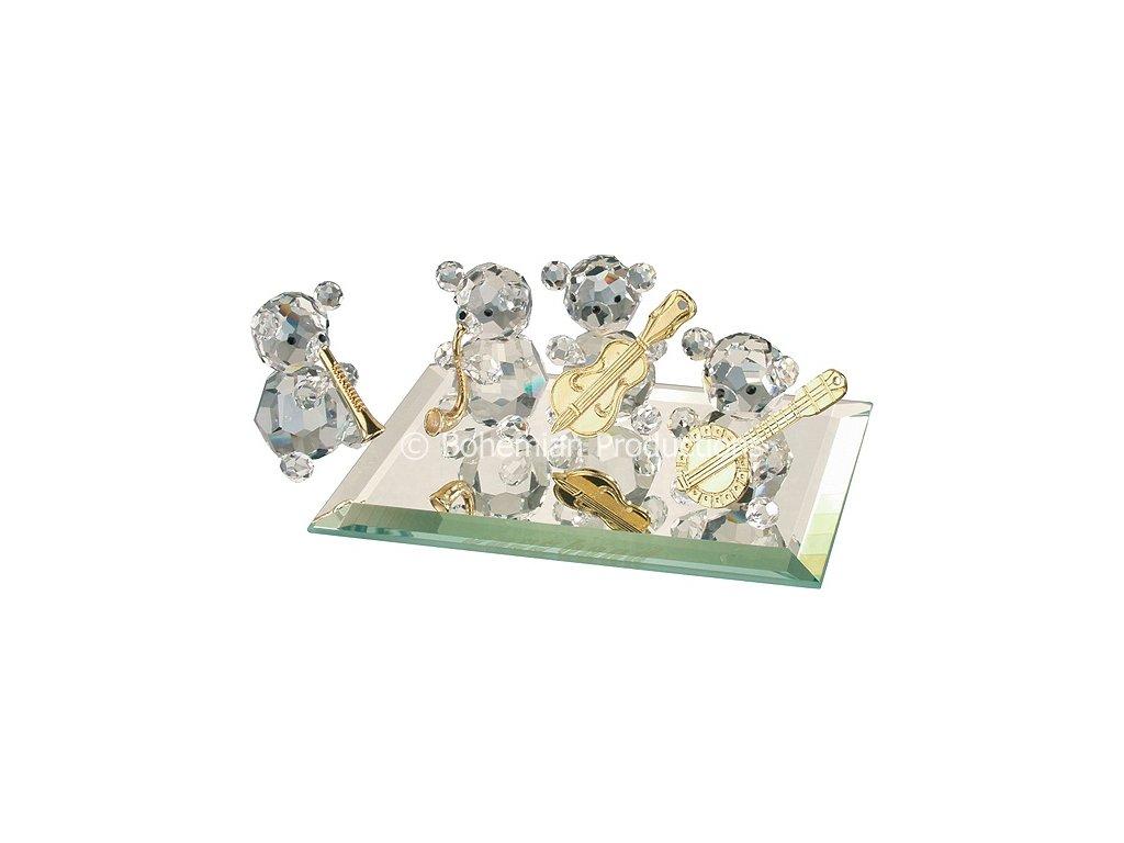 Skleněné figurky z broušeného křišťálu Sklo Bohemia - Jazzová kapela