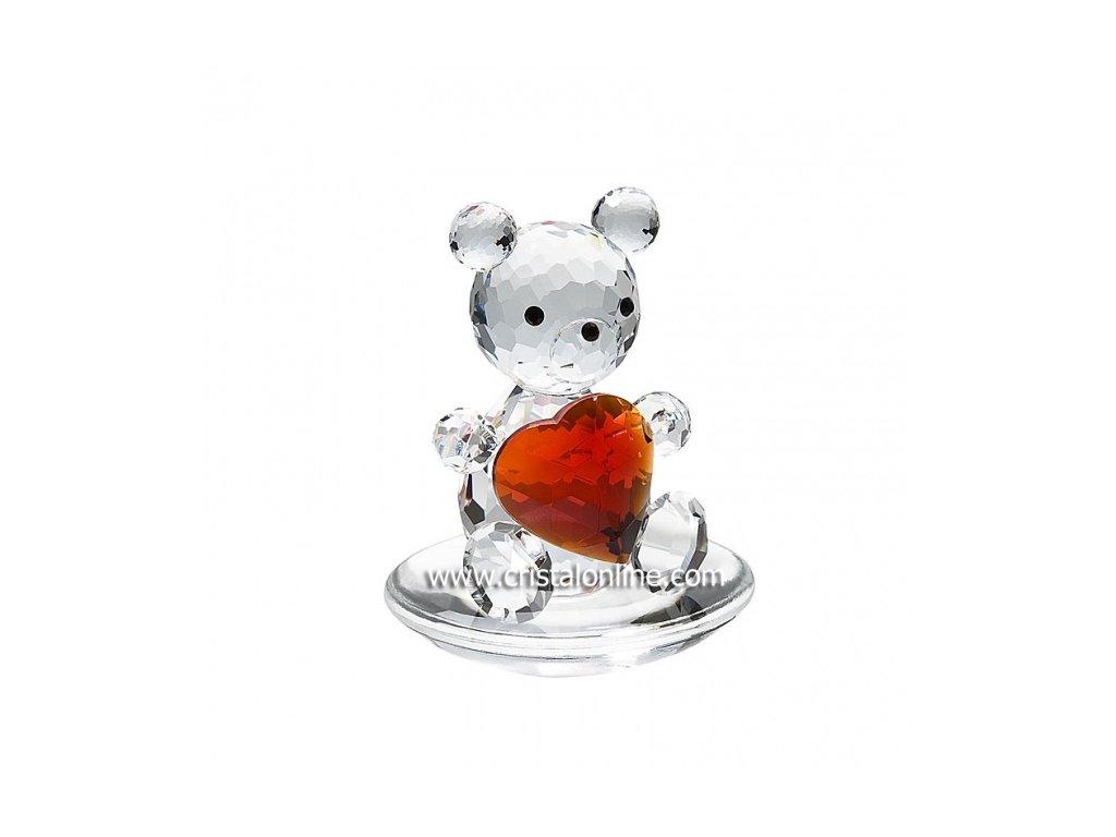 Skleněná figurka z broušeného křišťálu Sklo Bohemia - Medvěd (srdce)