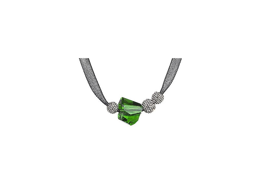 Přívěsek z broušeného skla Charme v zelené barvě od firmy Preciosa