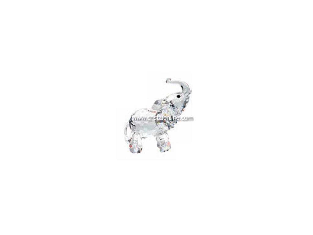 Skleněná figurka z broušeného křišťálu Sklo Bohemia - Stojící slon