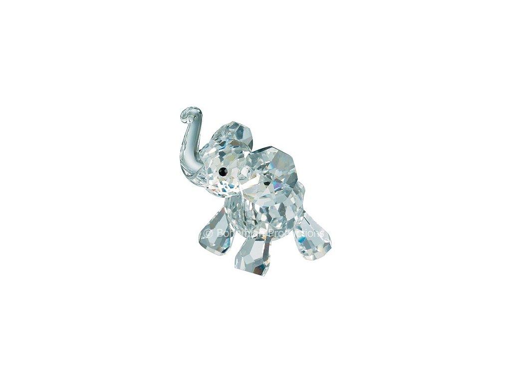 Skleněná figurka z broušeného křišťálu Sklo Bohemia - Slůně (mini) 0943 00