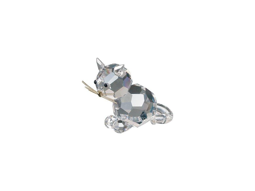 Skleněná figurka z broušeného křišťálu Sklo Bohemia - Malá kočka