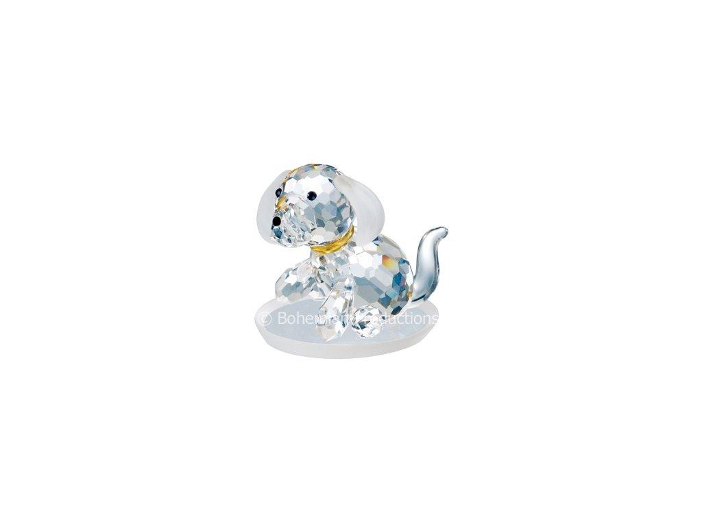Skleněná figurka z broušeného křišťálu Sklo Bohemia - Pes