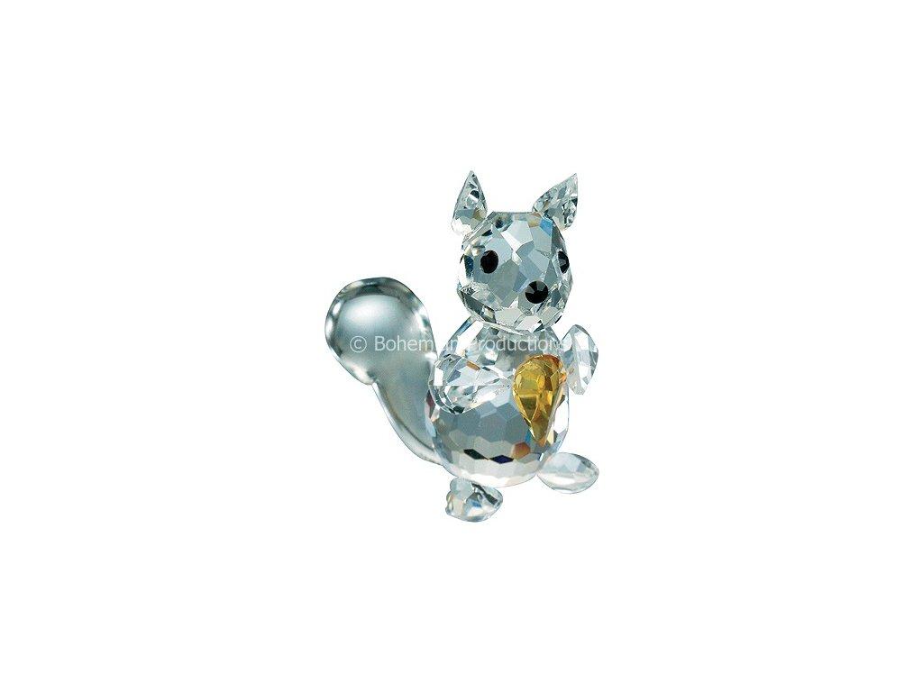 Skleněná figurka z broušeného křišťálu Sklo Bohemia - Veverka (mini)