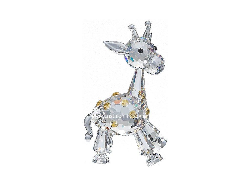 Skleněná figurka z broušeného křišťálu Sklo Bohemia - Malá žirafa