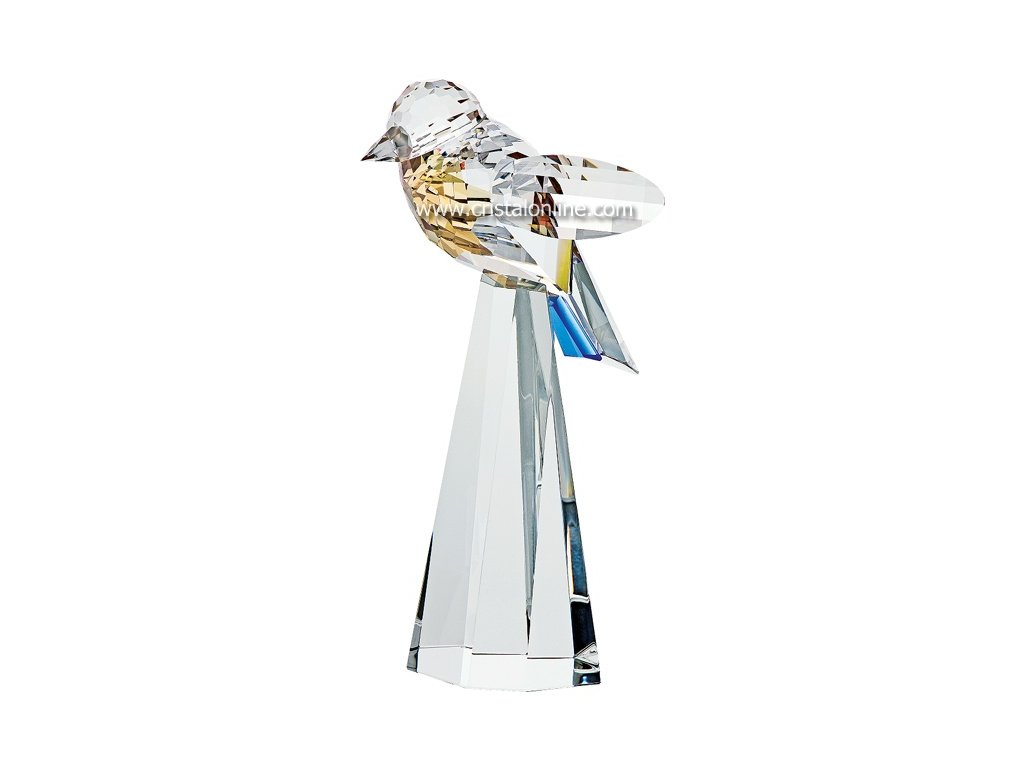 Skleněná figurka z broušeného křišťálu Sklo Bohemia - Sýkorka modřinka