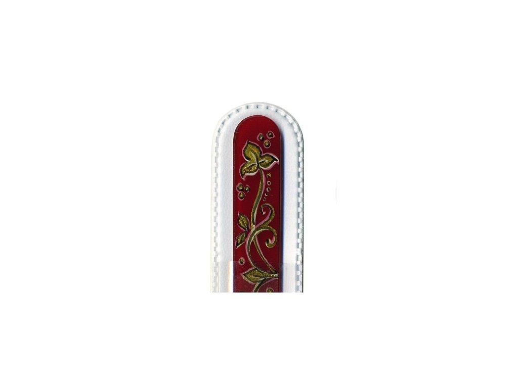 Skleněný pilník 135 mm s vánočním motivem - Vánoční ornamenty