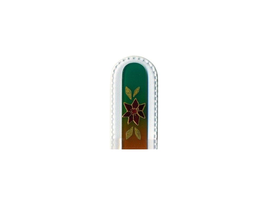 Skleněný pilník 135 mm s vánočním motivem - Vánoční hvězda