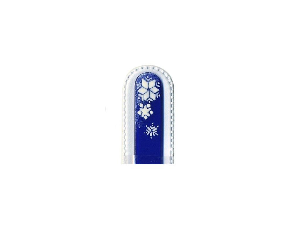 Skleněný pilník 135 mm s vánočním motivem - Sněhová vločka