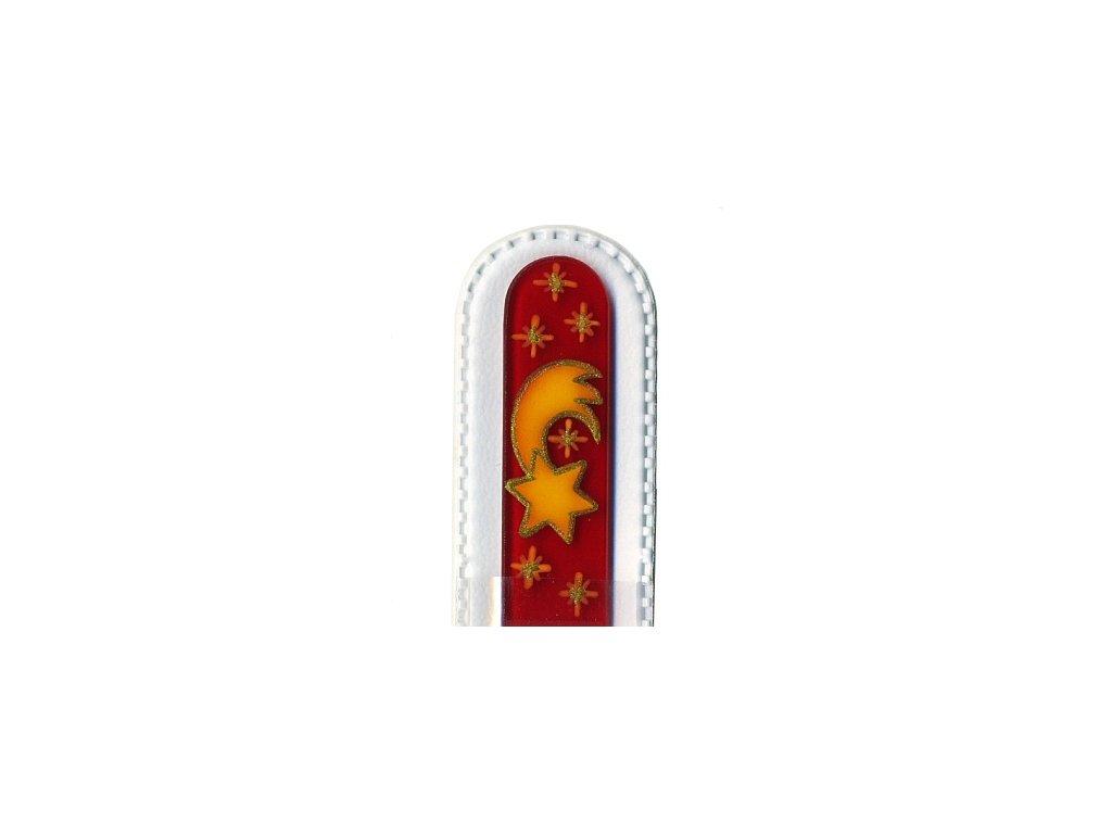 Skleněný pilník 135 mm s vánočním motivem - Betlémská hvězda