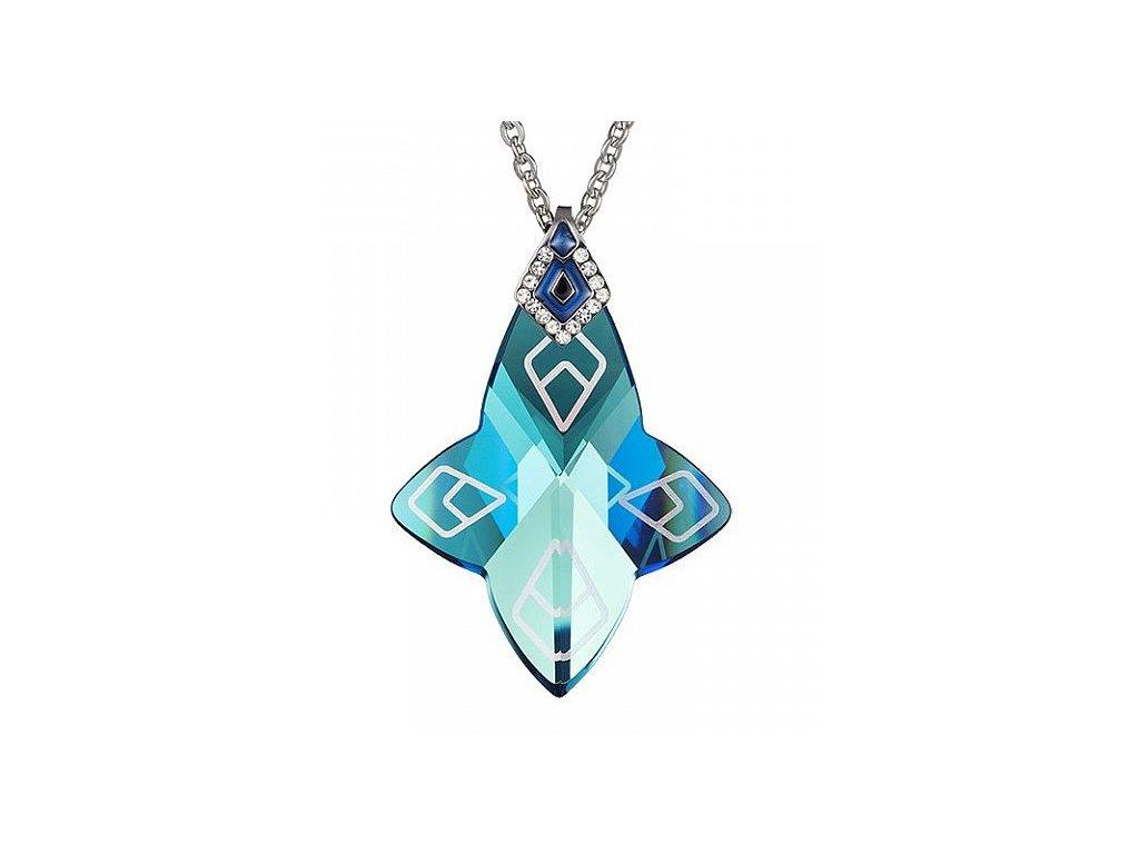 Přívěsek z broušeného skla Larisa v modré barvě od firmy Preciosa