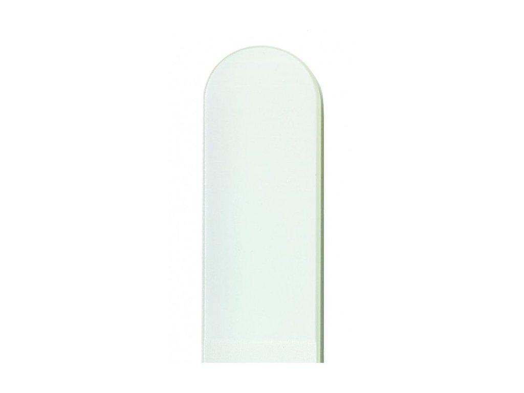 Skleněný pilník na nehty barevný pedikúra - Bílá