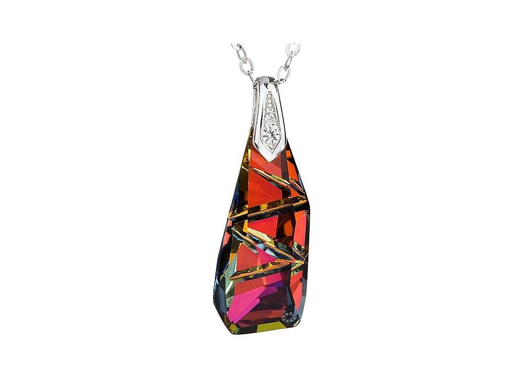 Přívěsek z broušeného skla Excellente v odstínech červené od firmy Preciosa