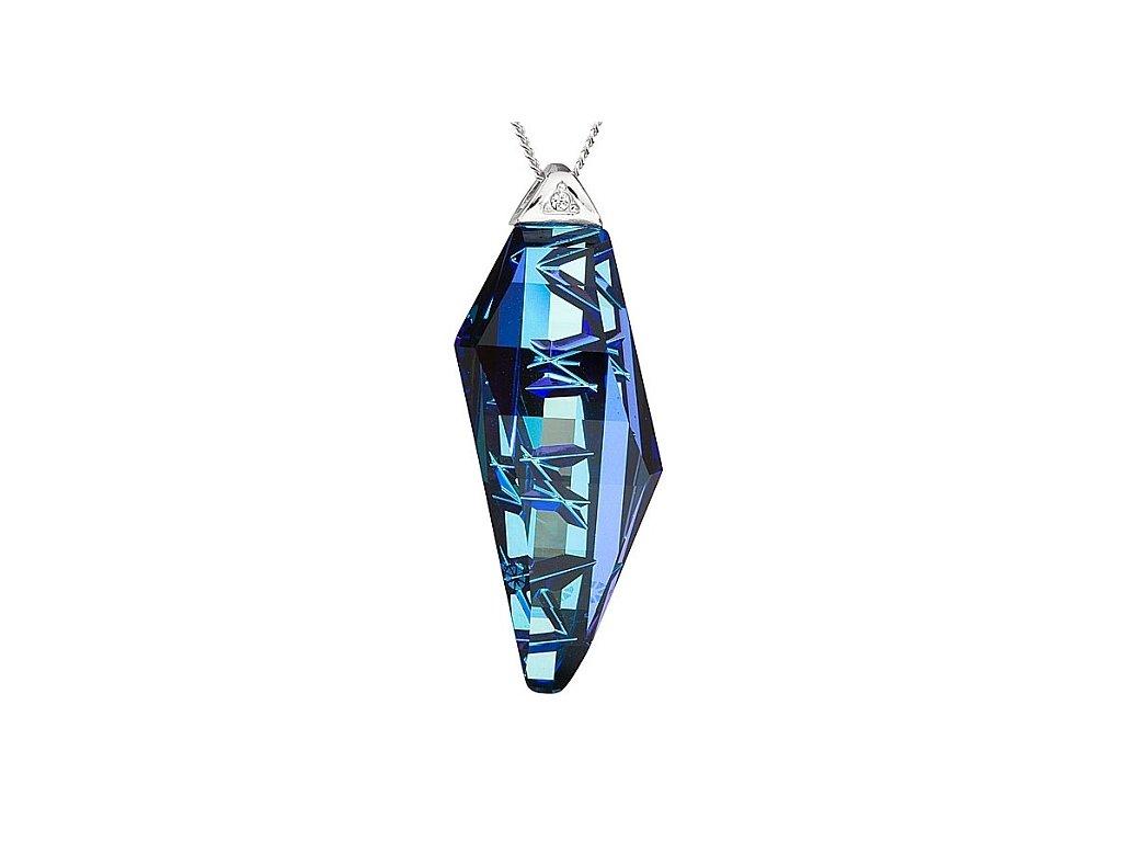 Přívěsek z broušeného skla Flawless Elegance v modré barvě od firmy Preciosa