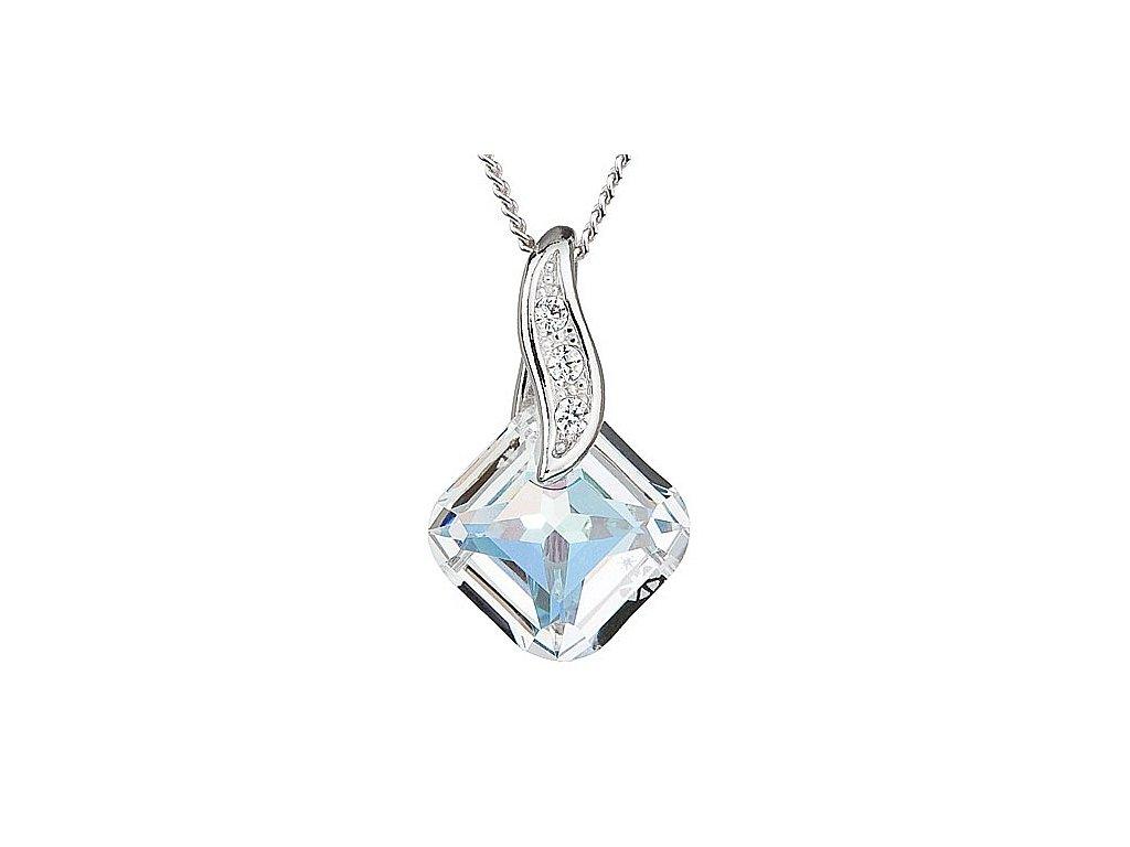 Přívěsek z broušeného skla Feminine Charm v odstínech duhy od firmy Preciosa