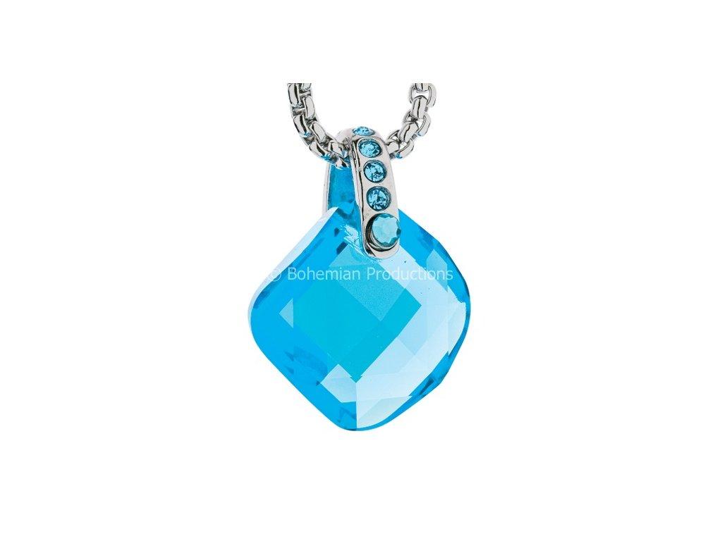 Preciosa Broušený křišťálový přívěsek Danielle  Crystal  Aquamarine  Akvamarínová barva moře
