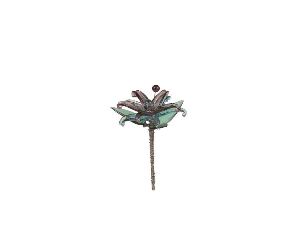 Skleněná kytka  Leknín