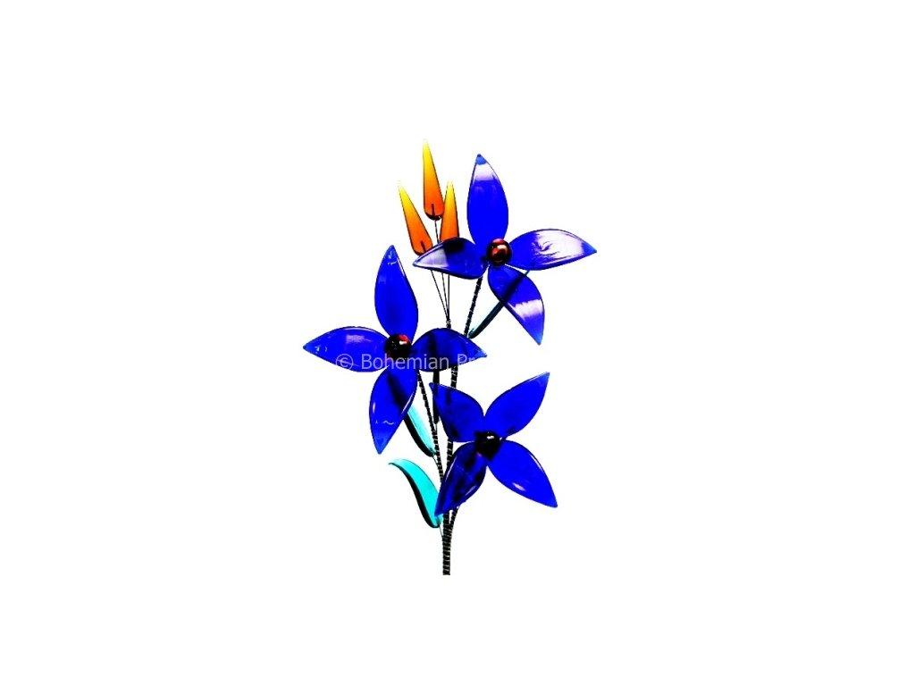 Skleněná kytka - Modré moře
