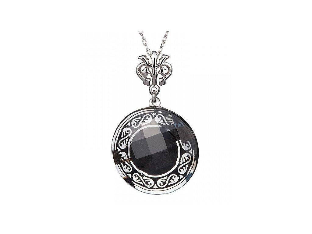 Přívěsek z broušeného skla Magical Ornament II v černé barvě od firmy Preciosa