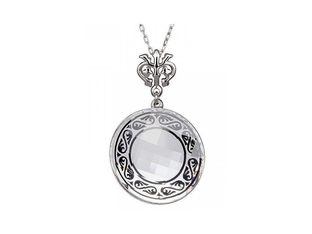 Přívěsek z broušeného skla Magical Ornament v černé barvě od firmy Preciosa