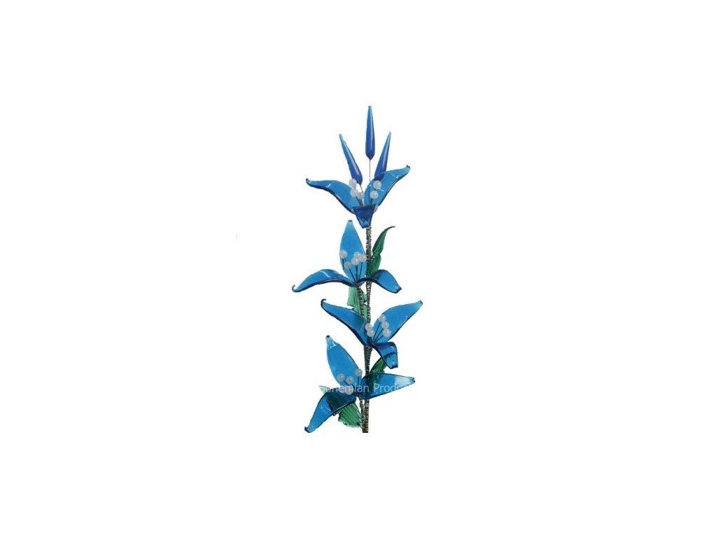 Skleněná kytka  Modrý květ