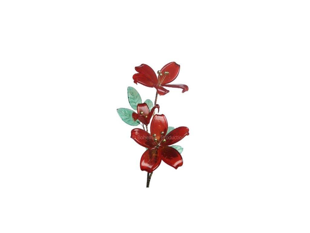 Skleněná kytka  Šípková růže