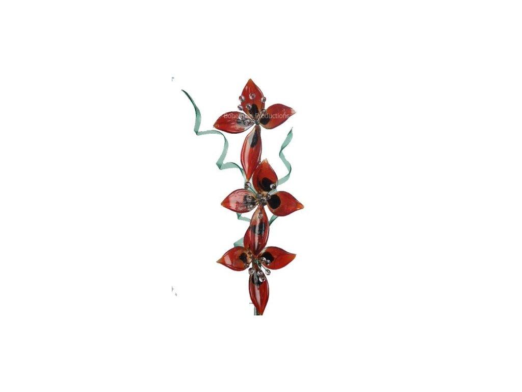 Skleněná kytka  Červené máky