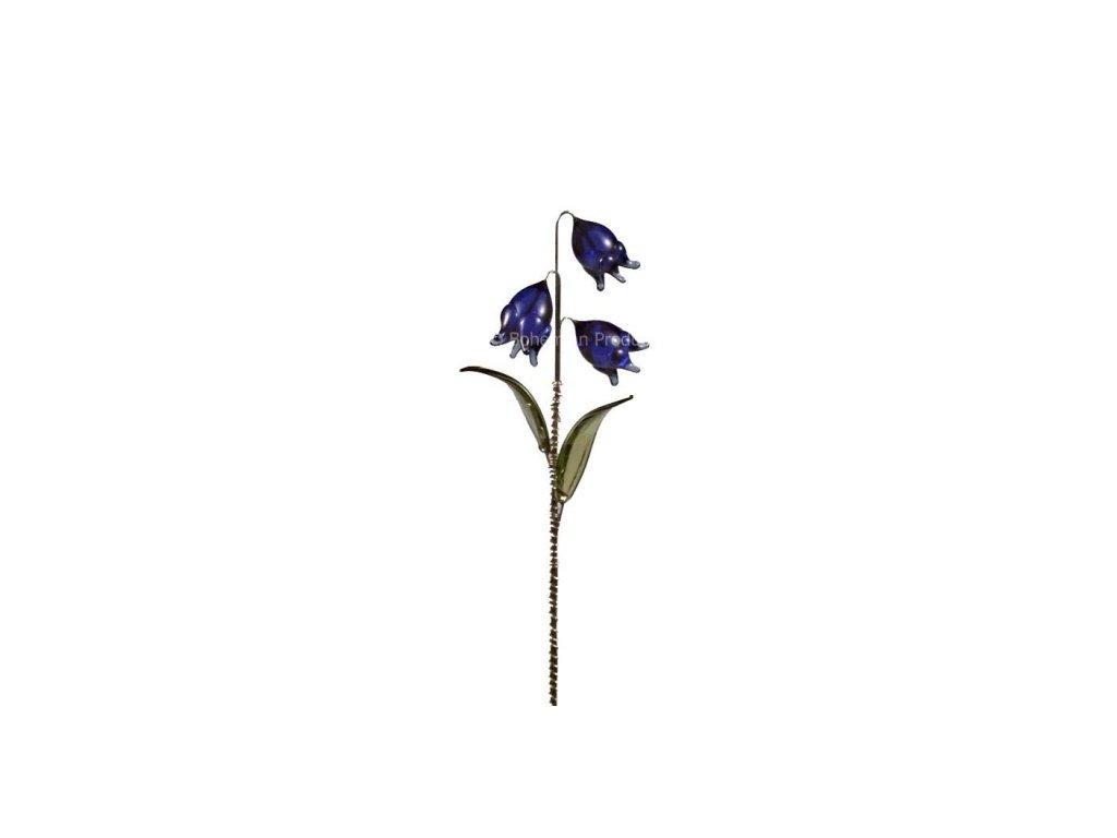 Skleněná kytka  Modré zvonky