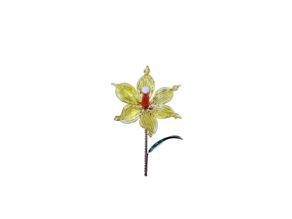 Skleněná kytka  Letní květ