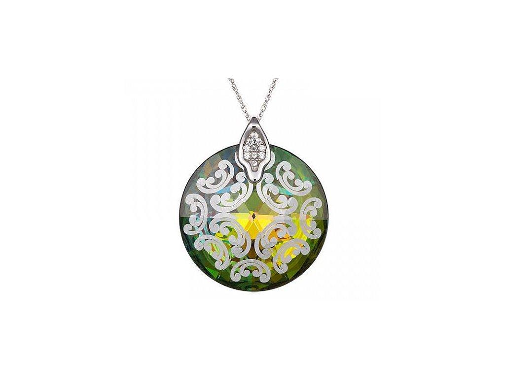 Přívěsek z broušeného skla Crystal Rose I v barvě Vitrail Medium od firmy Preciosa