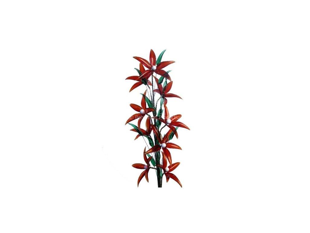 Skleněná kytka  Jahody