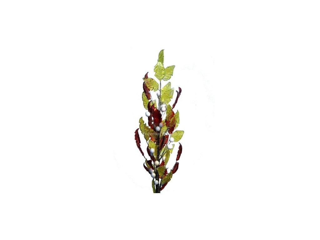Skleněná kytka  Padající listí