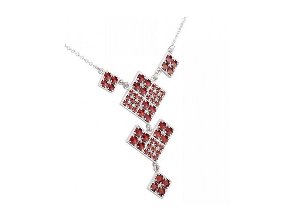 Český granát  Luxusní náhrdelník 18