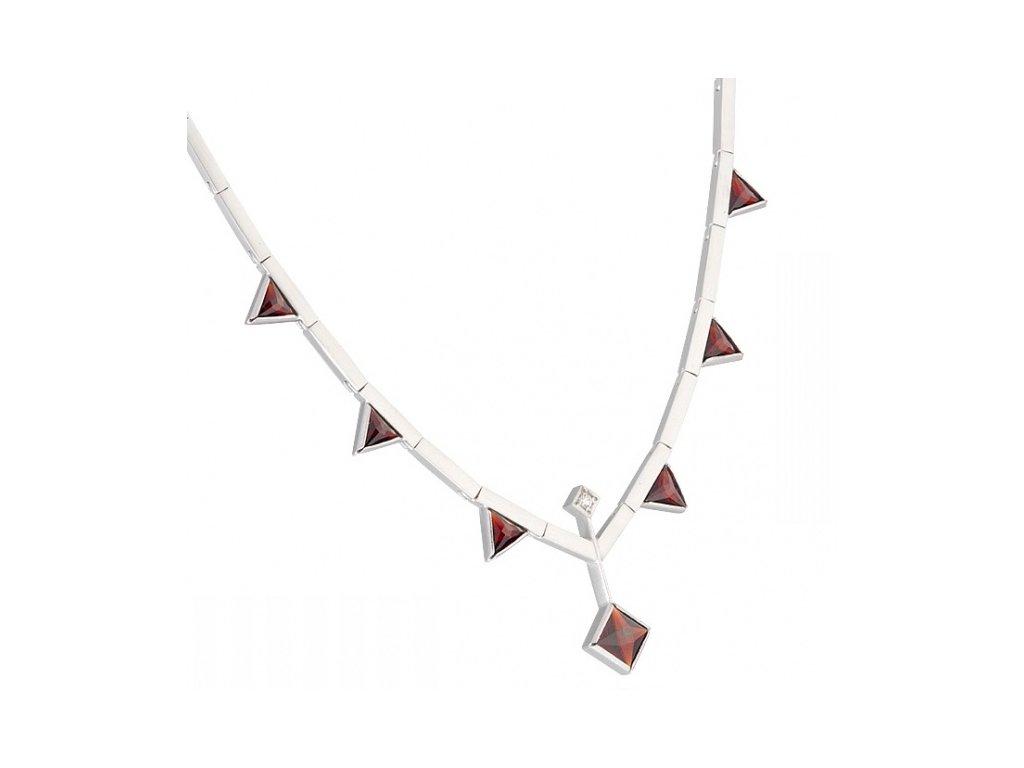 Český granát  Luxusní náhrdelník 17