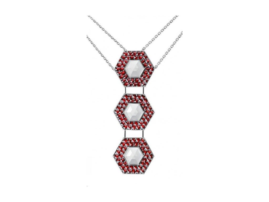 Český granát  Luxusní náhrdelník 15