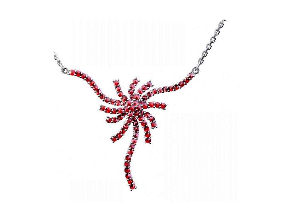 Český granát  Luxusní náhrdelník 13