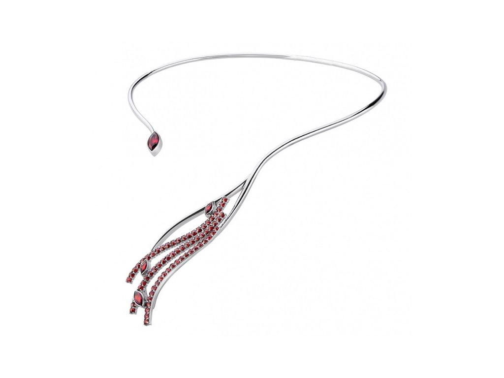 Český granát  Luxusní náhrdelník 12